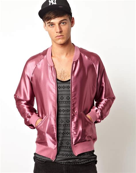 At974 Flowy Bomber Jacket pink lightweight jacket jacket to