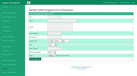 buat web sederhana gratis pondoksoft download sistem isnformasi perpustakaan