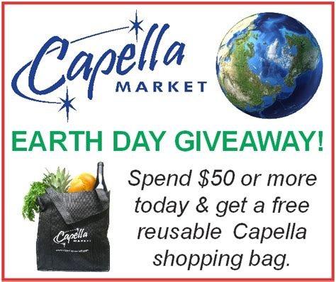 Earth Day Giveaways - capella market
