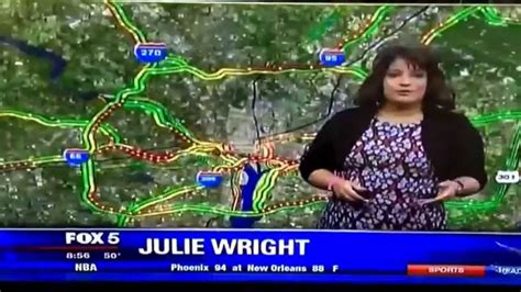 Dc Traffic Search Uh Oh Julie Wright Fox 5 Microphone Blooper Cuteness