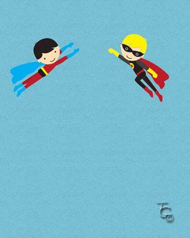 superhero b'day twins. free for kids ecards, greeting