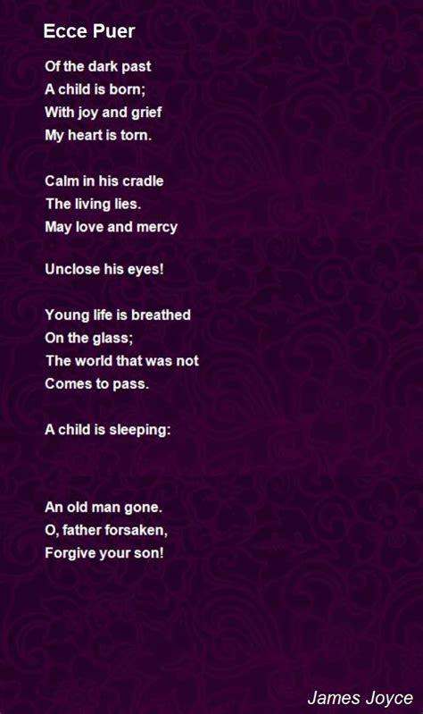 ecce puer poem  james joyce poem hunter