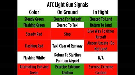airport tower light signals light gun signals