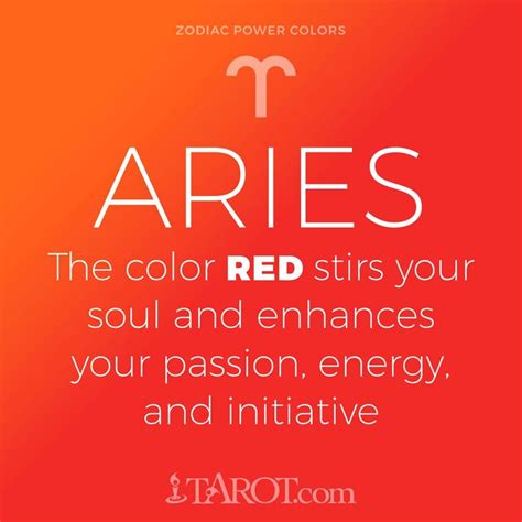 aries colors your zodiac sign s power color aries aries zodiac