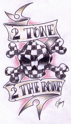 ska tattoo designs two tone by ska club on deviantart