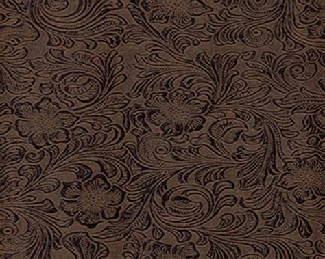 embossed leather upholstery stagecoach black brown western floral embossed vinyl faux