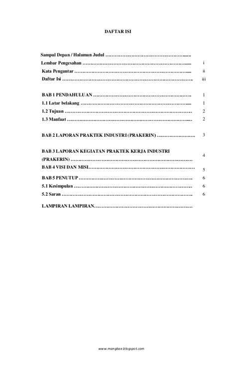 format laporan pengabdian masyarakat contoh daftar isi program kerja flauschige katzen