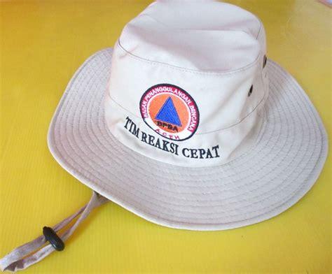 Cari Topi Rimba Topi Gunung Promosi topi rimba bpbd distributor barang promosi perusahaan