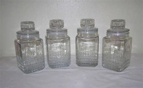glass kitchen storage canisters apothecary storage jars glass canisters set of 4