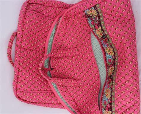 vera bradley pink floral quilted fabric garment bag ebay