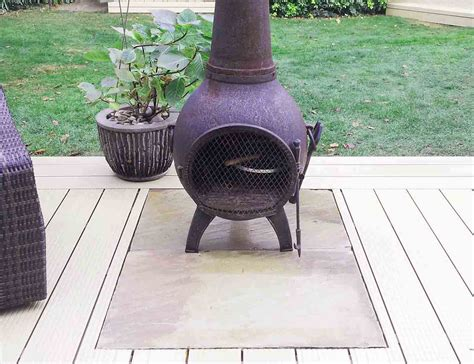 chiminea on porch stonetree landscapes portfolio decking
