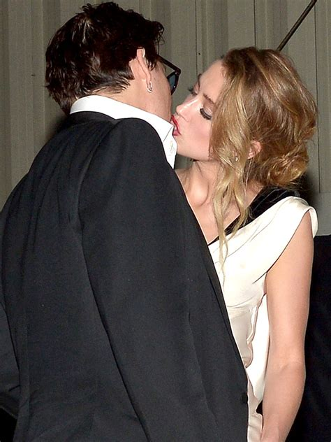 johnny depp and amber heard kissing after breakup rumors