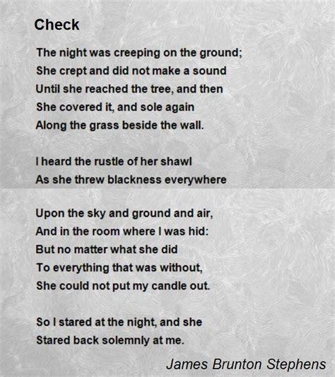 Theme Of Check By James Stephens | check poem by james brunton stephens poem hunter comments