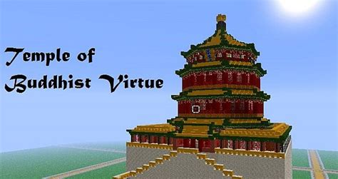 Home Floor Plans Single Level temple of buddhist virtue minecraft project