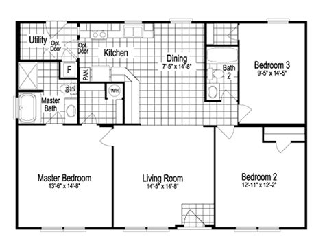 oklahoma floor plans model sst342a7 1260 sq ft manufactured home floor plans