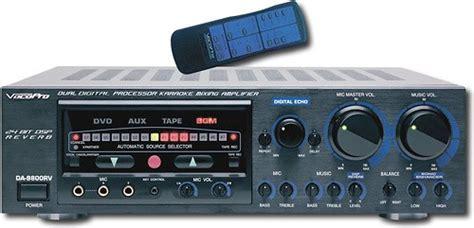 best karaoke mixer vocopro karaoke mixing lifier da 9800rv best buy