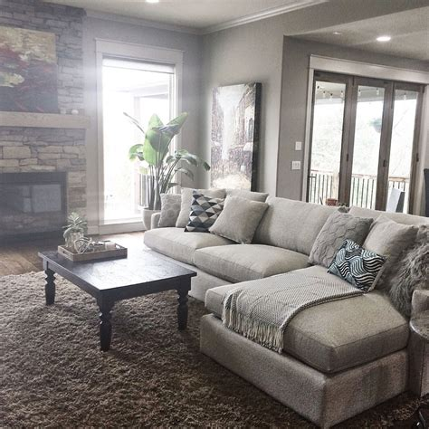 Pottery Barn Livingroom by Pottery Barn Living Room With Carpet And Decorative Plant