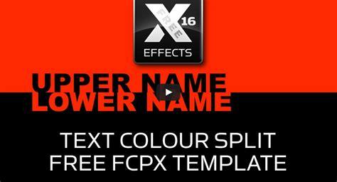 fcpx template idustrial revolution free fcpx template quot text colour split quot