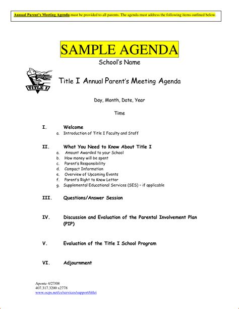 meeting agenda exles templates 6 sle meeting agenda template bookletemplate org