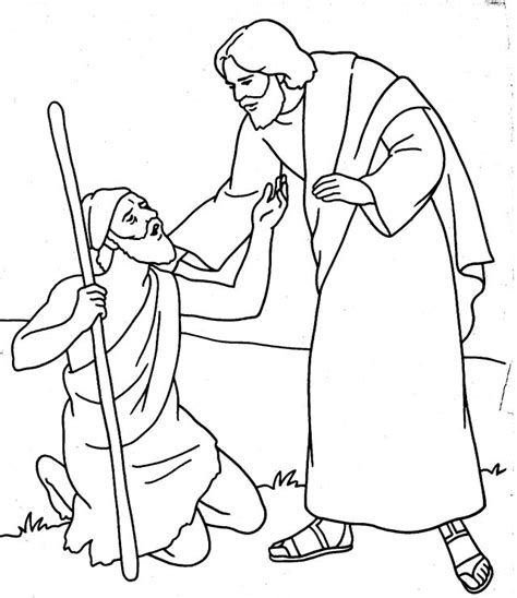 Jesus Heals The Blind Coloring Page free jesus heals 10 lepers coloring pages