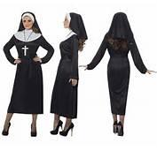 Disfraz De Monja Color Negro Para Mujer Talla L