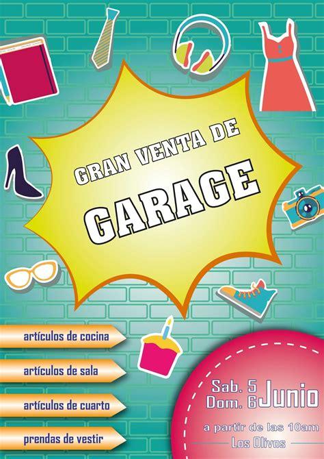 ventas de garaje soluciones gr 225 ficas afiche quot venta de garage quot