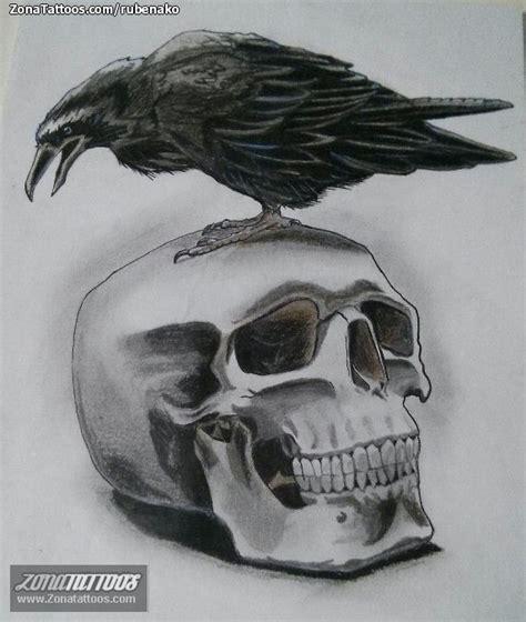 dise 241 o de calaveras cuervos aves