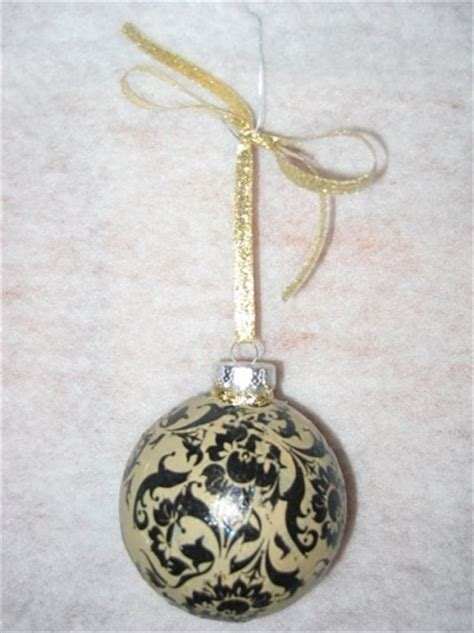 Decoupage Glass Ornaments - damask decoupage glass ornament meylah