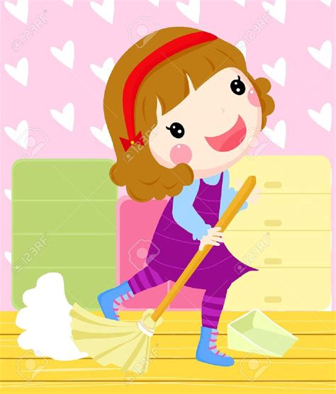 clean bedroom clipart girl cleaning room clipart 58