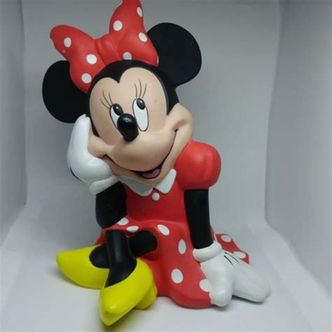Disney Mickey Minnie Mouse Ceramic Piggy Bank Vintage - minnie mouse coin bank for sale classifieds