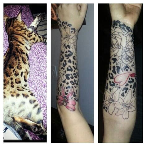 cheetah print and roses tattoo leopard print bow skull roses flowers dimonds