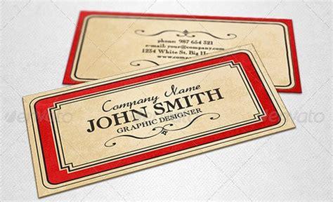 retro style business card template 60 premium business card templates designrfix