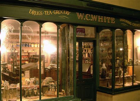 In the victorian village at fambard s amusement park in cornwall