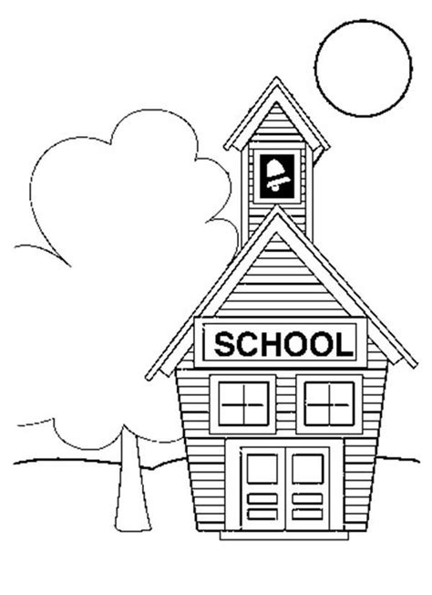 small school house coloring page coloring sky small house