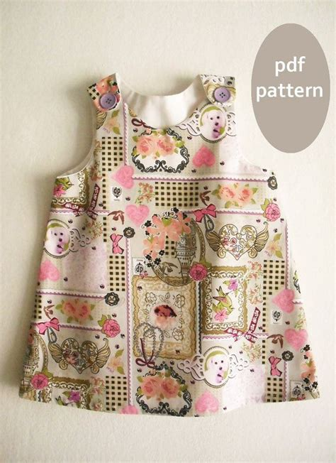 a line dress pattern tutorial toddler dress pattern girl size 2y 3 4y a line dress pattern with tutorial toddler