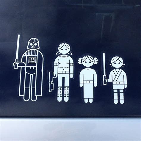 Aufkleber Auto Familie by Star Wars Family Car Stickers