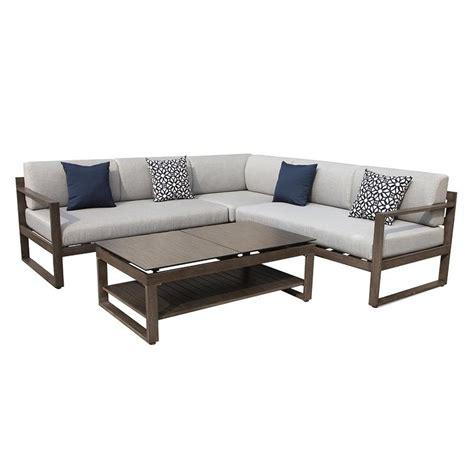shop ove decors melia 4 piece aluminum patio conversation