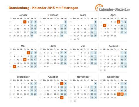 Feiertage Kalender 2015 Feiertage 2015 Brandenburg Kalender
