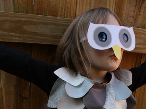 diy  minute kids owl costume  halloween kidsomania