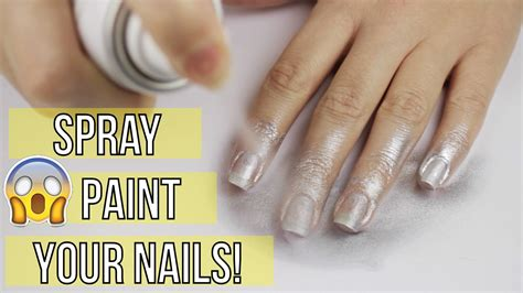Spray Painting Your Nails