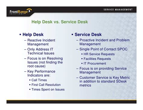 service desk key performance indicators october 2008 transforming from help desk to service desk