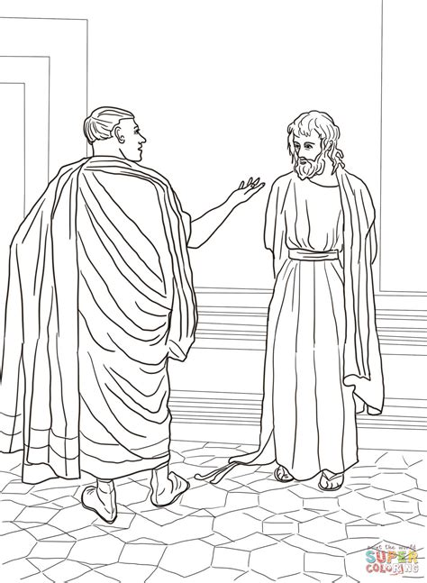 coloring pages jesus before pilate jesus and pilate coloring page free printable coloring pages