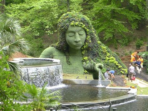 intricate  beautiful topiary sculptures