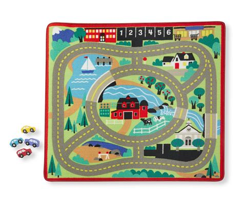 Melissa Doug Round The Town Road Rug And Car Activity Activity Rug