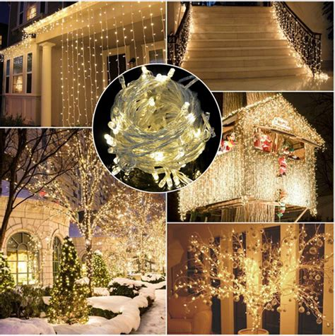 30x warm white home or garden party lights decorative led warm white 20 500 led fairy string lights battery
