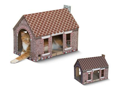 heart  tail holiday cat scratching playhouse aldi