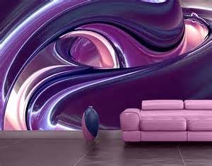 Purple Wall Mural photo wall mural circles in purple wallpaper wall art wall decor 3d