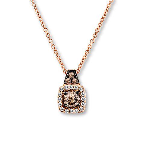 levian chocolate diamonds 1 4 cttw necklace 14k