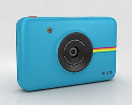 polaroid snap instant digital camera white 3d model hum3d