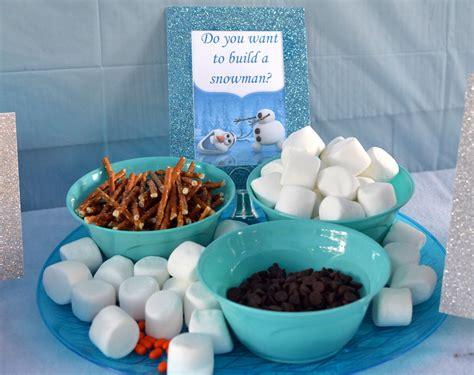 Frozen Themed Birthday Food | disney frozen birthday party ideas